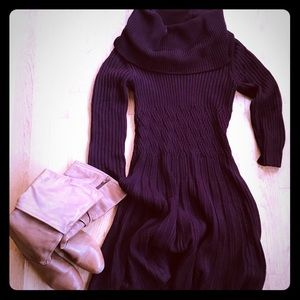 Purple Eliza J Sweater Dress